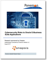 Ponemon Report: Cybersecurity Risks to Oracle E-Business Suite of Applications