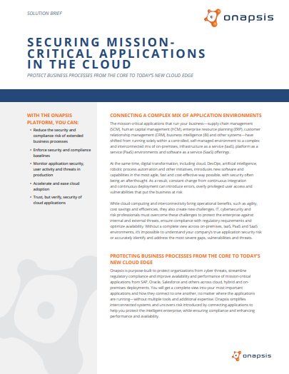 Securing Mission-critical Applications in the Cloud