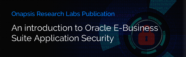 An Introduction to Oracle EBS Application Security